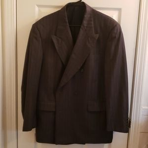 Christian Dior Suit 41R Pants 36×32 Pinstriped